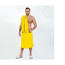 Набор для бани и сауны мужской  желтый
