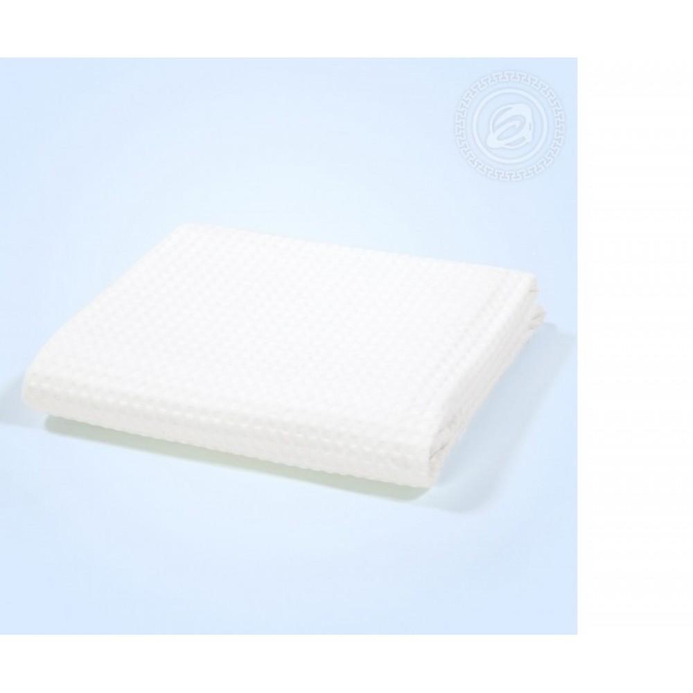Полотенце вафельное банное 70х140 см. Белое