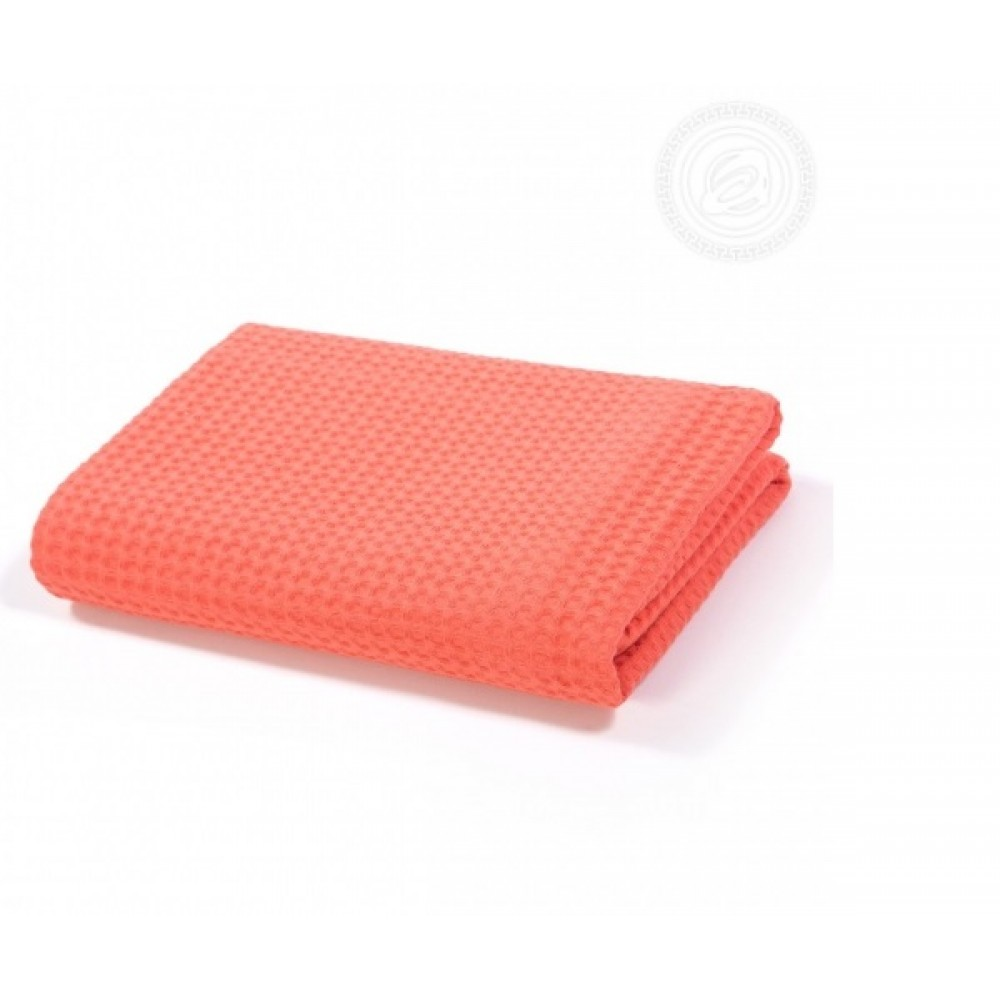 Полотенце вафельное банное 70х140 см. Коралл
