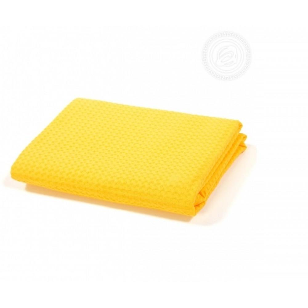 Полотенце вафельное банное 70х140 см. Желтое