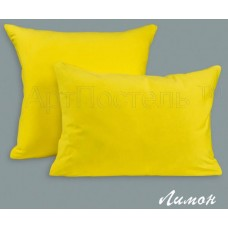 Трикотажная наволочка на молнии «Лимон»